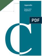 Appendix C - Federal DOT Regulations