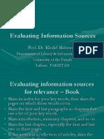 3 Evaluating Information Sources Khalid