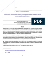 Medical Devices- Guidance Document