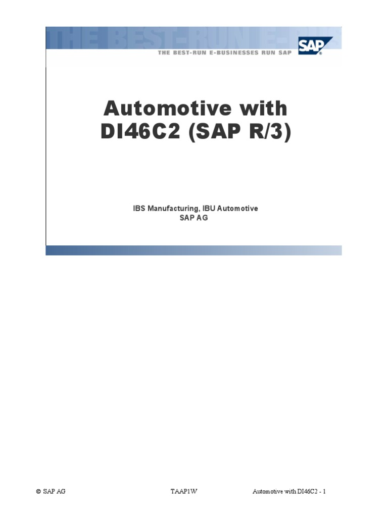 Sap Apo Ppds For Automotive Pdf Computer Data Storage Random