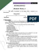 Introduction to Bio Mechanics