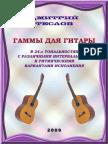 Д.Теслов - Гаммы Для Гитары В 24-х Тональностях...