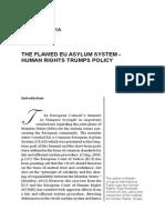 Mila ISAKOVSKA THE FLAWED EU ASYLUM SYSTEM - HUMAN RIGHTS TRUMPS POLICY