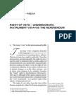 Drita MAMUTI – FAZLIA RIGHT OF VETO – UNDEMOCRATIC INSTRUMENT VIS-A-VIS THE REFERENDUM