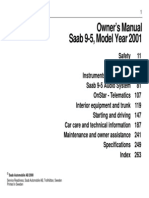 Saab 2001-9-5 Se Owners Manual