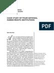 Biljana KOTEVSKA Dimitar NIKOLOVSKI CASE STUDY OF FOUR NATIONAL HUMAN RIGHTS INSTITUTIONS