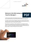 VBA for Managers