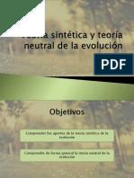 Teoría sintética y teoría neutral de la evolución