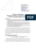 Advanced Care Planning Critical Issue Brief