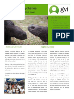 GVI Seychelles Newsletter December 2013