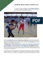 Cientos de escolares del IES Mar Serena de Pulpí se divierten con el Almería Basket