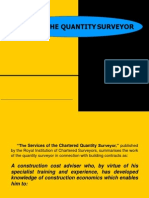 Role of the Quantity Surveyor