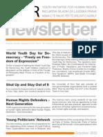 NewsLetter - YIHR - October 2013 - ENG