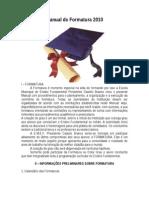 Manual de Formatura 2010