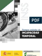 INCAPACIDAD TEMPORAL TIEMPOS ESTANDAR
