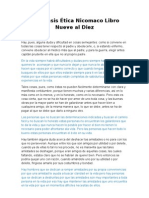 Paráfrasis Ética Nicomaco Libro Nueve al Diez