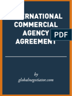 INTERNATIONAL COMMERCIAL AGENCY AGREEMENT SAMPLE