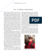 Fear of Missing Out - A Tribute to Zach Orman