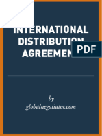 INTERNATIONAL DISTRIBUTION AGREEMENT SAMPLE