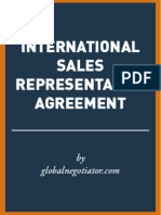 INTERNATIONAL SALES REPRESENTATIVE AGREEMENT SAMPLE