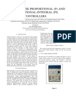 DESIGNING THE PROPORTIONAL (P) AND PROPORTIONAL-INTEGRAL (PI)