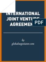 INTERNATIONAL JOINT VENTURE AGREEMENT SAMPLE