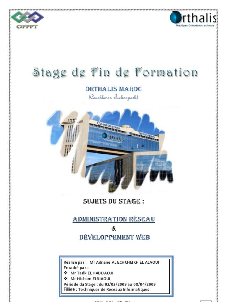 Rapport stage fin formation tri - Page de garde rapport de stage open office ...