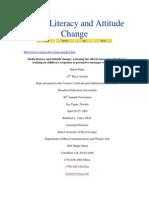Media Literacy and Attitude Change