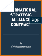 INTERNATIONAL STRATEGIC ALLIANCE CONTRACT SAMPLE