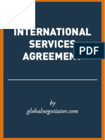 INTERNATIONAL SERVICES AGREEMENT SAMPLE
