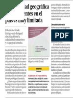 La movilidad geográfica de los docentes en el país es muy limitada - Miguel Jaramillo - 231213