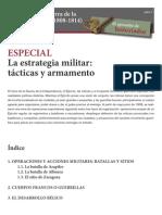 La estrategia militar tácticas y armamento