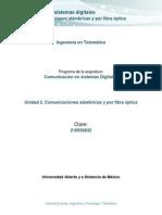 Unidad 2. Comunicaciones alambricas y por fibra óptica