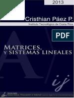 Matrices y Sistemas Lineales