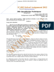 IGNOU MEC-003 Free Solved Assignment 2012