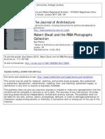 Robert Elwall and the RIBA Photographs