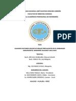 ALGUNOS FACTORES SOCIOCULTURALES PREVALENTES EN EL EMBARAZO ADOLESCENTE, MICRORED HUALMAY 2012-2013