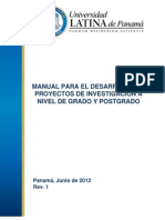 Manual Proyectos de Investigacion Estudiantes 12-06-12