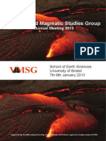 Volcanic and Magmatic Study Group (2013) Bristol