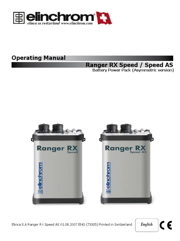elinvhrom ranger rx speed as manual battery charger battery rh scribd com User Manual PDF Operators Manual