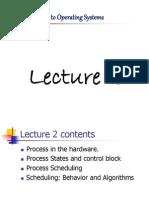 Week 2 (2013-2014) Operating System
