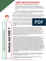 Newsletter di LUGLIO, AGOSTO e SETTEMBRE 2013 del Gruppo Consiliare PD di Zona 7-Milano