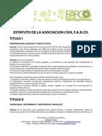 Estatuto del Foro Argentino de Radios Comunitarias