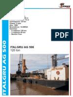 Tabla de Carga - Italgru AG 500