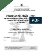 Prova Linha Meio Ambiente Sustentabilidade 2011
