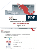 Encuesta Nacional Sobre Inseguridad 6-2009