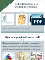 La Propiedad Intelectual y La Transferencia de tecnología