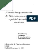 PEL memoria experimentacion secundaria