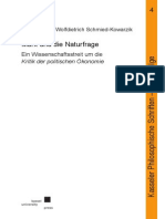 Marx Und Die NaTur fRage Scmied-Kowarzik