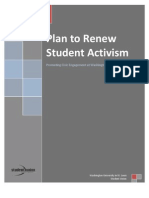 The Plan to Renew Student Activism